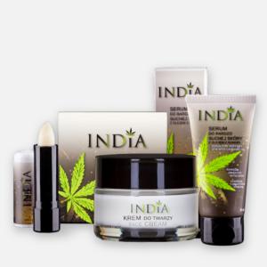mini zestaw kosmetyków konopnych India Cosmetics