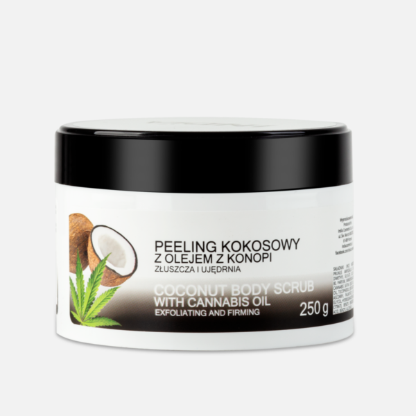 Naturalny peeling cukrowy - Kokosowy 250ml India Cosmetics
